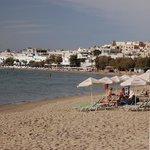 Naxos town beach