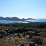 View on the walk down to Elounda
