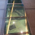 Glass floor by the main entrance