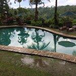 Pool nach Gewitter