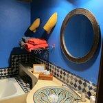 Bathroom detail --blue majorrelle
