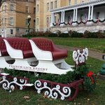 Winter Sleigh outside French Lick Resort