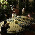 Table awaiting its guests for dinner