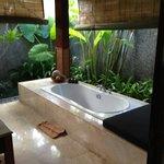 Outside bathroom/spa bath