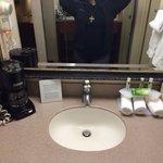 Vanity area in room 142