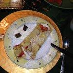 Delicious breakfast crepe