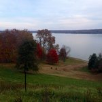 Rear lawn view overlooking the Potomac