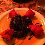 Stuffed peppers and black rice risotto