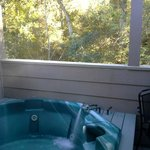 Hot Tub on Deck of Room
