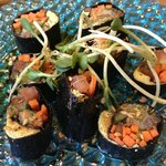 A daily special - Nori rolls - SO DELICIOUS - little works of art
