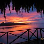 Spectacular Sunset - Bora Bora in distance to the right