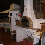 heres the wood fired oven!