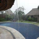Rainy hour in paradise