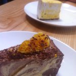 Raw Orange Chocolate Cheesecake & Passionfruit Cheesecake