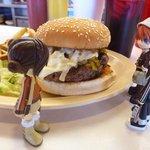Green Chile Cheeseburger at Penny's Diner, Vaughn, NM