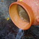 an always flowing jug of warm mineral elixir