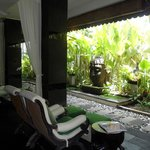 Ante-room of spa at The Breezes Bali