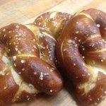 Housemade soft pretzels