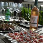 Canapes on the deck
