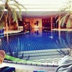 Sehr schöner Pool mit Massagedüsen. (20x10m)