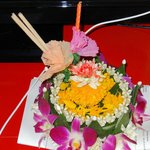 Loy Krathong, flowers provided by the hotel