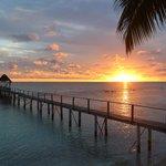 sunset sur le ponton