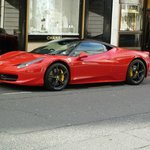 Bond Street is the right place to spot a Ferrari