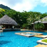 la piscine très calme ...