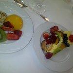 Selezione dal buffet frutta e dessert