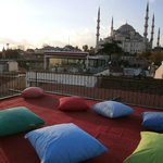 view from the rooftop terrace of the Blue Mosque