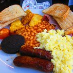 Large Breakfast with Black Pudding