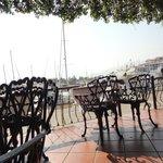 Вид на залив с ресторана