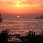Blick aufs Meer am Abend