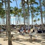 Barbacoa informal entre el restaurante y la playa