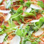 Creative stone-baked pizzas.