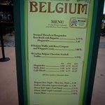 Menu da parte da Bélgica