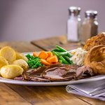 Our newly improved roast dinner. no need to wash up.
