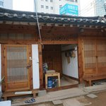 Hanok door from inside
