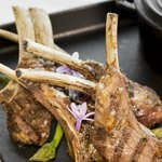Grilled Scottish lamb chops marinated in Ras al-Hanut spice