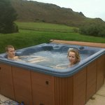 Our private hot tub