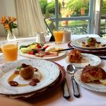 One of the wonderful breakfasts at the Chateau