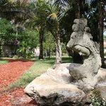 Statue behind Oasis Spa