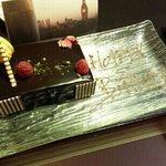 birthday cake on the house!