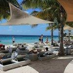 Relaxing at Papagayo Beach Club