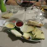 cheese platter, all produce from a Tuscan farm!