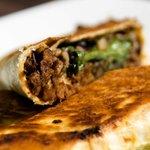 Habana pressed beef burrito