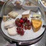 cheese platter at the breakfast buffet