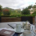 vue de la terrasse du café