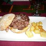 hamburguesa de vaca
