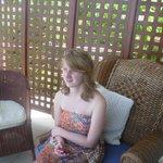 Sophie on the varanda-  just looking at the ocean
